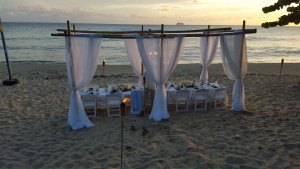 beach reception at Havana Blue