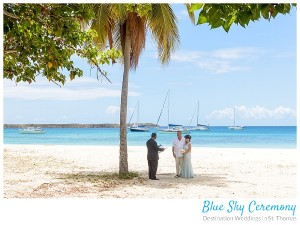 beach wedding ceremony at brewers beach in st thomas