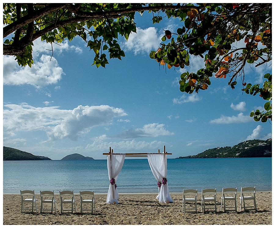 magens bay beach wedding venue in st thomas