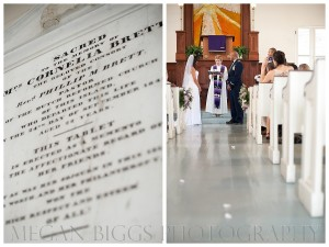 christian wedding ceremony at st thomas reformed church